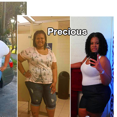 Precious lost 72 pounds | Black Weight Loss Success