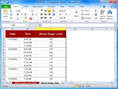 Blood Sugar Tracker Template For Excel