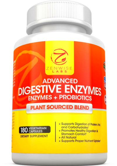 Digestive Enzymes With Prebiotics And Probiotics - All Natural Gluten Free En... | Chickadee ...
