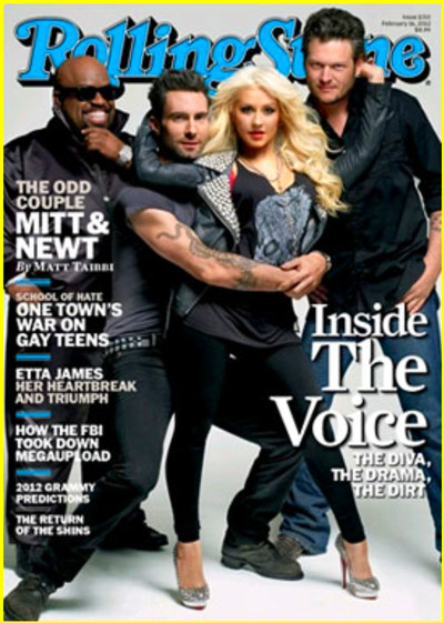 ... Blake Shelton, Cee Lo Green, Christina Aguilera, Magazine : Just Jared