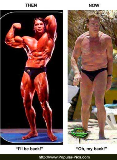 Arnold Schwarzenegger Now and Then