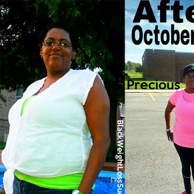 Precious lost 30 pounds | Black Weight Loss Success
