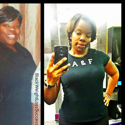 Precious lost 105 pounds.   Black Weight Loss Success