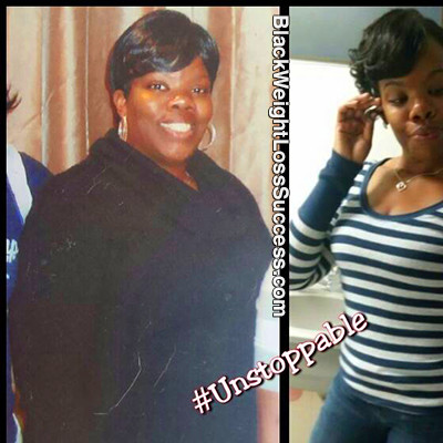 Precious lost 105 pounds. | Black Weight Loss Success