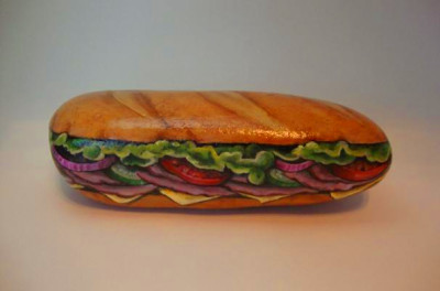 Foodista | Submarine Sandwich Rock Art Will Chip a Tooth