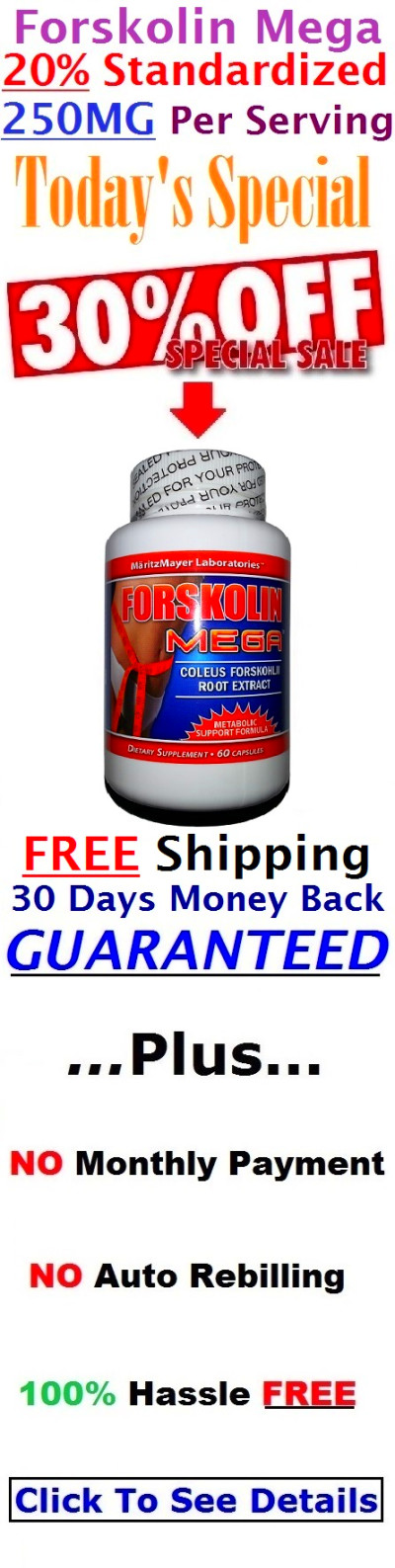 Forskolin Mega: Strongest Forskolin Dosage Available