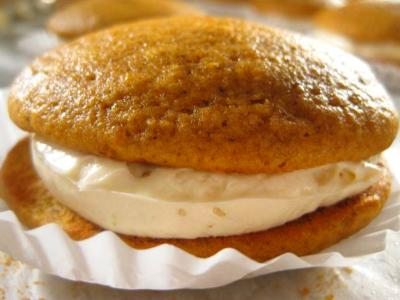 Pumpkin Whoopie Pies : Recipes : Cooking Channel Recipe ...