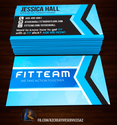 FITTEAM Business Cards style 2 · KZ Creative Services · Online Store ...