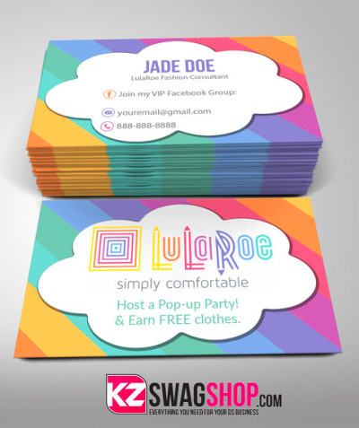 LulaRoe Business Cards - 3 · KZ Creative Services · Online Store Powered by Storenvy