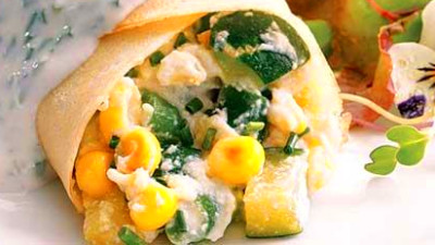 Summer Vegetable Crepes Recipe - EatingWell
