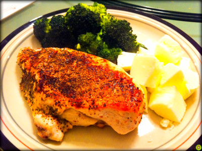 Grilled Chicken Breast w/ Steamed Egg Whites & Broccoli ...