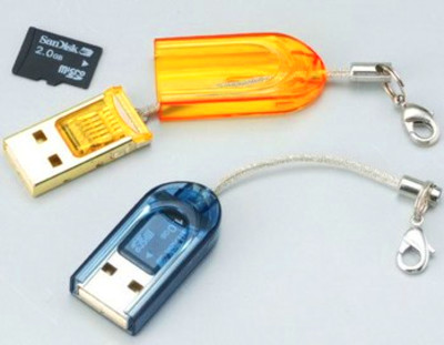 USB 2.0 Thumb High Speed Memory Card Reader for Micro SD T-Flash ...