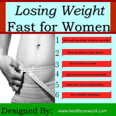 How to lose weight fast for women: Top 6 Ways - Healthynews24