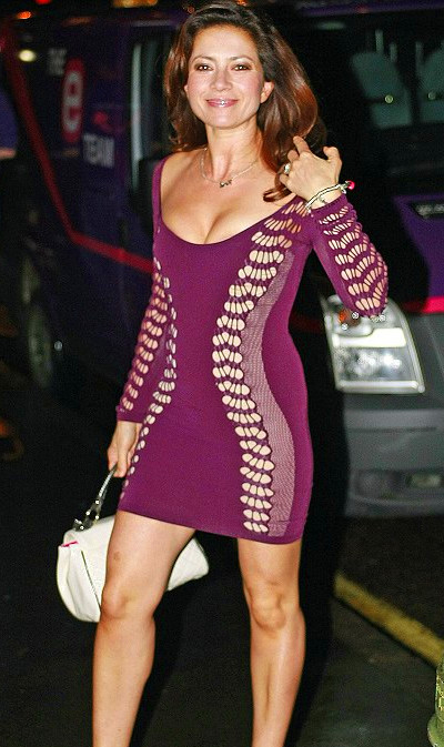 Clare Nasir shows off size 6 figure in risque mini-dress ...
