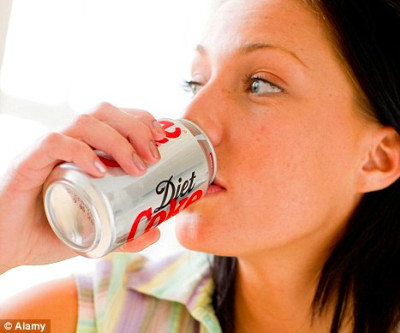break: Fizzy diet drinks and other artificially-sweetened beverages do ...