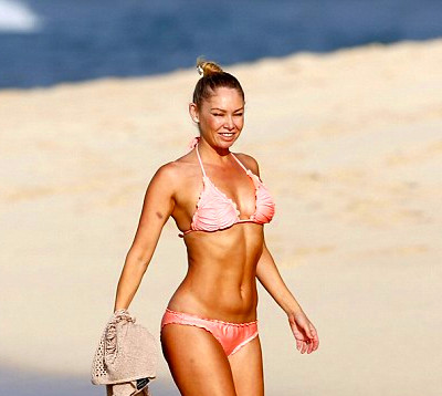 Relaxing before the madness: Professional dancer Kym Johnson spent the ...