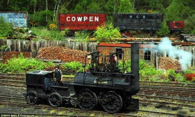 Working replica of first-ever passenger train travelling on one of world's oldest railways in ...