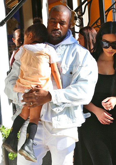 Precious! While West was focused on his professional life Monday, he ...
