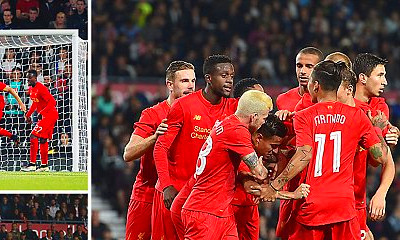 ... all net as Reds brush aside Championship outfit | Daily Mail Online