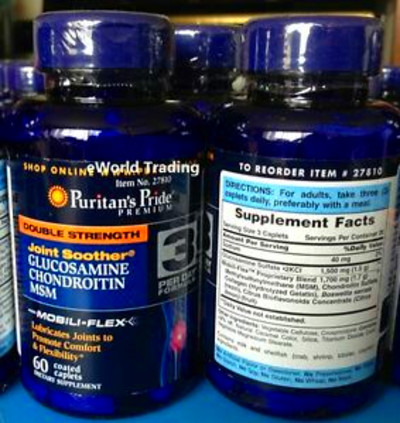 Details about Puritan's Pride Double Strength Glucosamine Chondroitin ...
