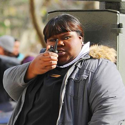 On Location: Gabourey Sidibe Filming New Movie in New York City