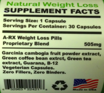 A-Rx Fast Extra Strength Weight Loss Pills Review