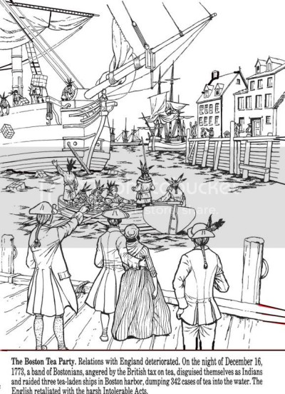 All Things John Adams: Coloring Pages: Boston Tea Party ...