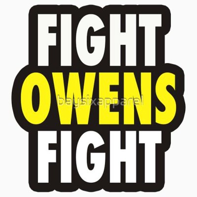 "Fight Owens Fight"" Stickers by baysixapparel 