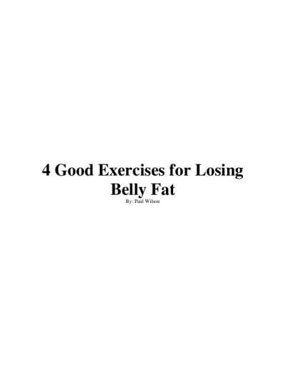 Good Exercises to Lose Belly Fat