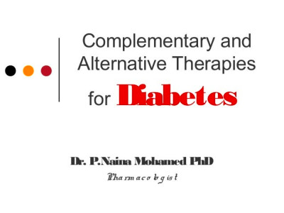 Complementary and alternative therapies for diabetes