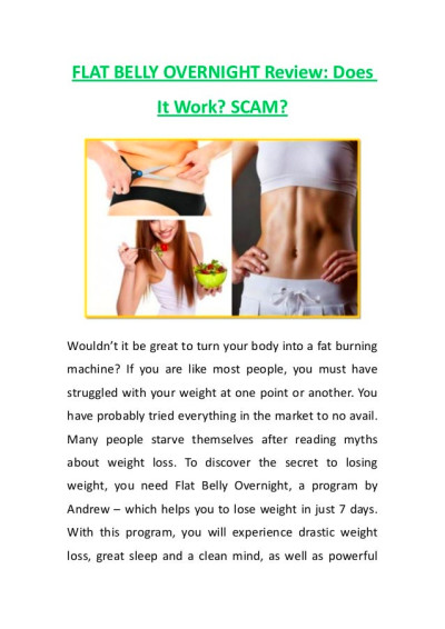 FLAT BELLY OVERNIGHT Review: DoesIt Work? SCAM?Wouldn't it be great ...