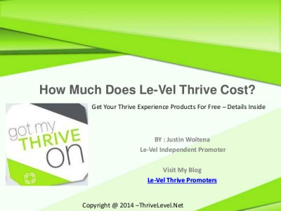 How Much Does Le-Vel Thrive Cost? Get Your Thrive Experience Products ...