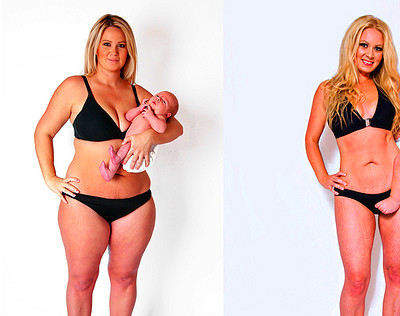 And 12 months after giving birth, I hit my goal and lost 100 pounds ...