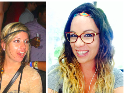 Sobriety: Before and after. On the left, a peak drinking time. On the ...