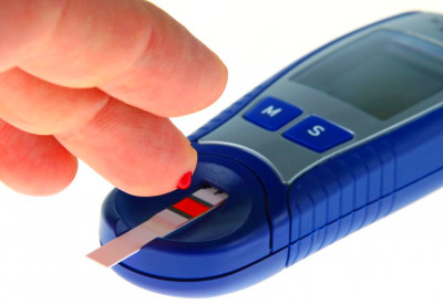 Portable blood glucose meters require a person to prick his or her ...