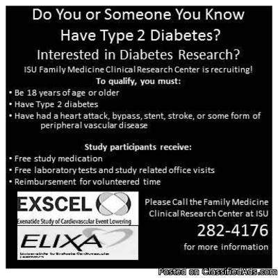 Do You or Someone You know Have Type 2 Diabetes? in Pocatello, Idaho | CannonAds.com