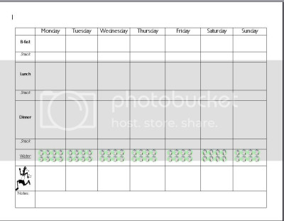 ... Boards • View topic - Made Meal plan template (pic inside) *UPDATE