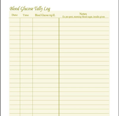Printable Diabetic Log Sheets Pictures to Pin on Pinterest ...