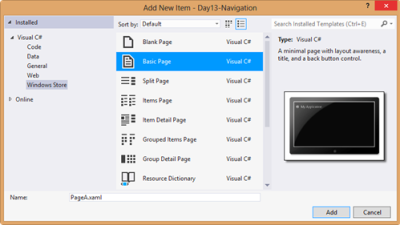 In each of those pages, there is a line of XAML that sets the AppName.