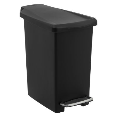 Buy simplehuman Slim Plastic Pedal Bin, Black, 10L Online at johnlewis ...