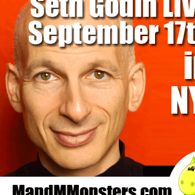 Seth Godin is speaking at an Infusionsoft sponsored marketing meetup ...