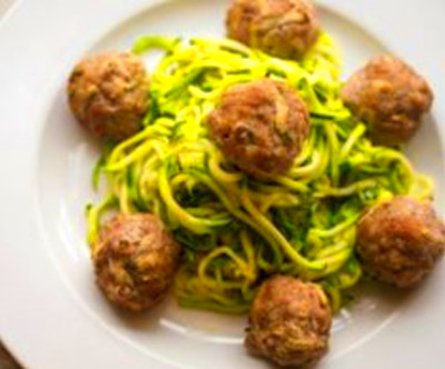 Simple to make pork, apple and tarragon meatballs. Serve with Zucchini ...