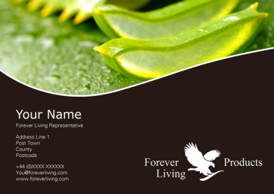 Client Forever Living Flyer (front) created by me at Nic's Designs.