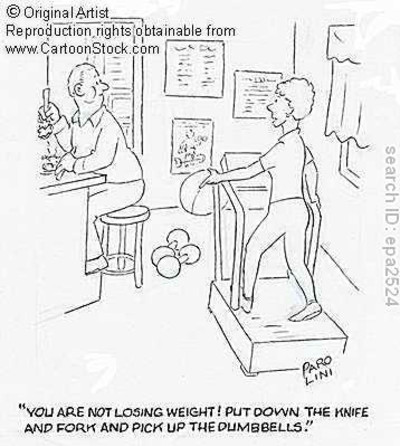 ... exercise plan wont offset a BAD DIET!! take time to learn to eat