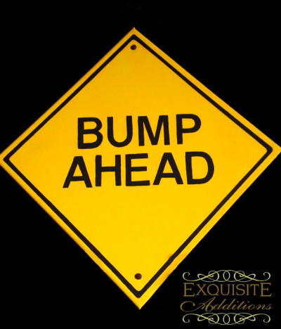 Bump Ahead Canvas Maternity Photo Prop $24.95