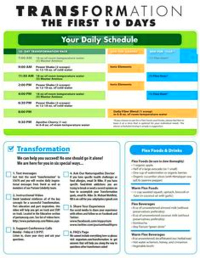 Purium 10 Day Celebrity Transformation Schedule, Tips and Flex Foods ...