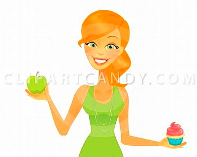 Cartoon Woman Healthy Diet Choices | Clip Art Candy | Pinterest