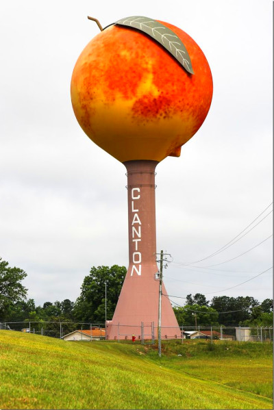 South of Birmingham you'll see the Clanton Alabama Peach from the ...