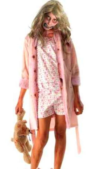 Classic> walking dead> girl zombie > bunny slippers n teddybear a MUST ...