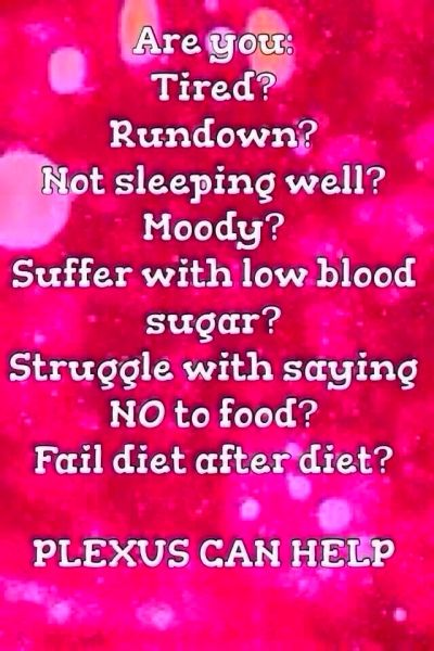Plexus can help with these and so much more!! Join me and countless ...